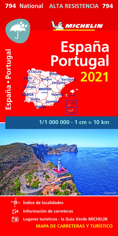 MAPA NATIONAL ESPAÑA, PORTUGAL 2021 - ALTA RESISTENCIA (17794)