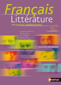 FRANÇAIS LITTERATURE ANTHOLOGIE CHRONOLOGIQUE