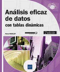 (2 Ed) Analisis Eficaz De Datos - Con Tablas Dinamicas - Pierre Rigollet