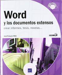 WORD Y LOS DOCUMENTOS EXTENSOS - CREAR INFORMES, TESIS, NOVELAS. ..