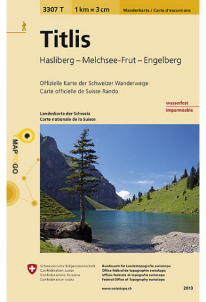 TITLIS (SUIZA) 3307T - HIKING MAP 1: 33333