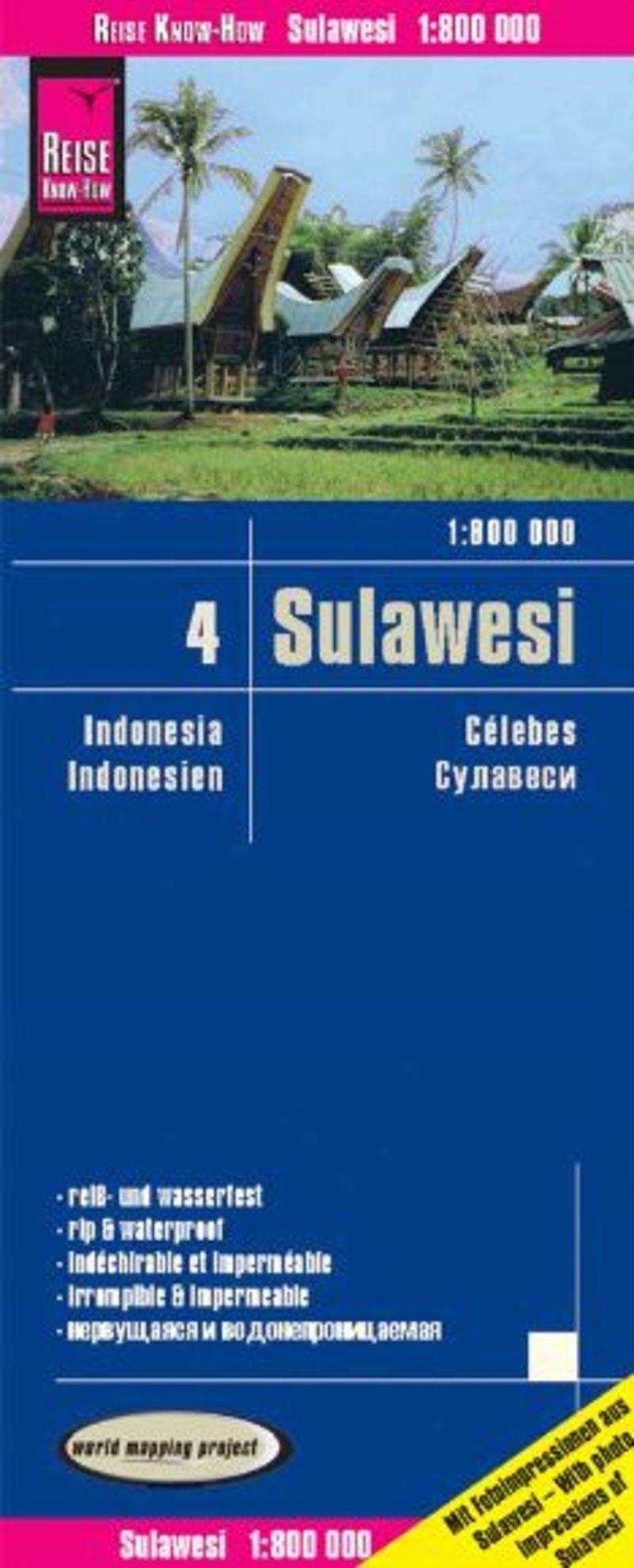 INDONESIA 4 - CELEBES (SULAWESI) 1: 800000