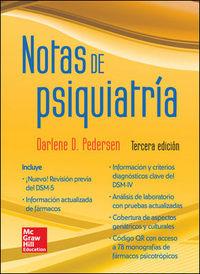 (3ª Ed. )  Notas De Psiquiatria - Darlene D. Pedersen