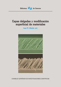 Capas Delgadas Y Modificacion Superficial De Materiales - Jose M. Albella
