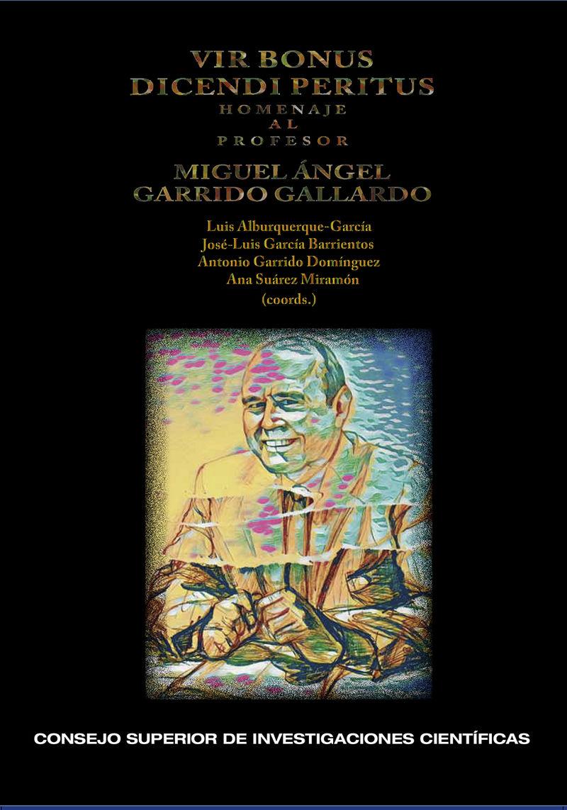 VIR BONUS DICENDI PERITUS : HOMENAJE AL PROFESOR MIGUEL ANGEL GARRIDO GALLARDO