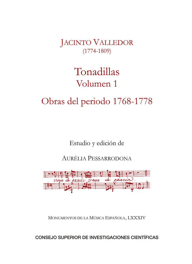 TONADILLAS I - OBRAS DEL PERIODO (1768-1778)