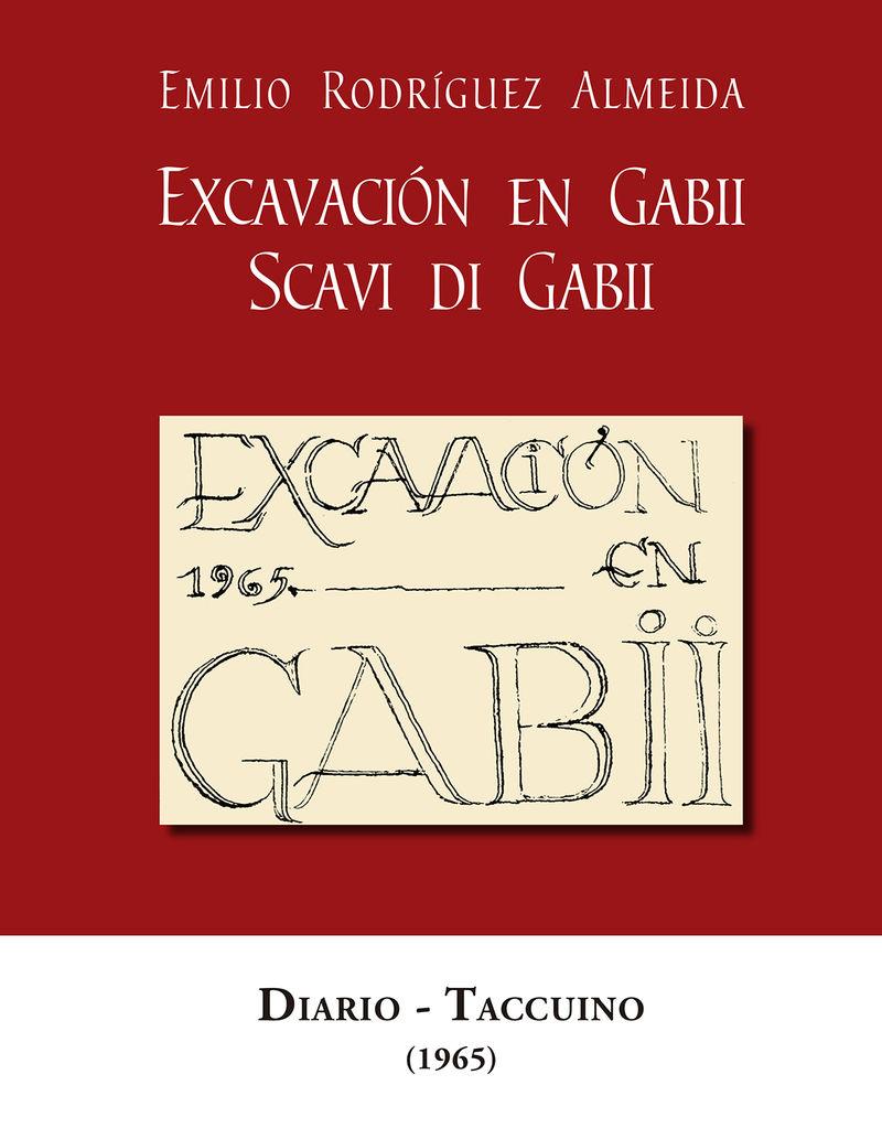 EXCAVACION EN GABII = SCAVI DI GABII - DIARIO-TACCUINO (1965)