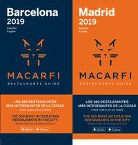 2019 GUIA MACARFI DE RESTAURANTES - DE BARCELONA Y MADRID (ESP / ENG)