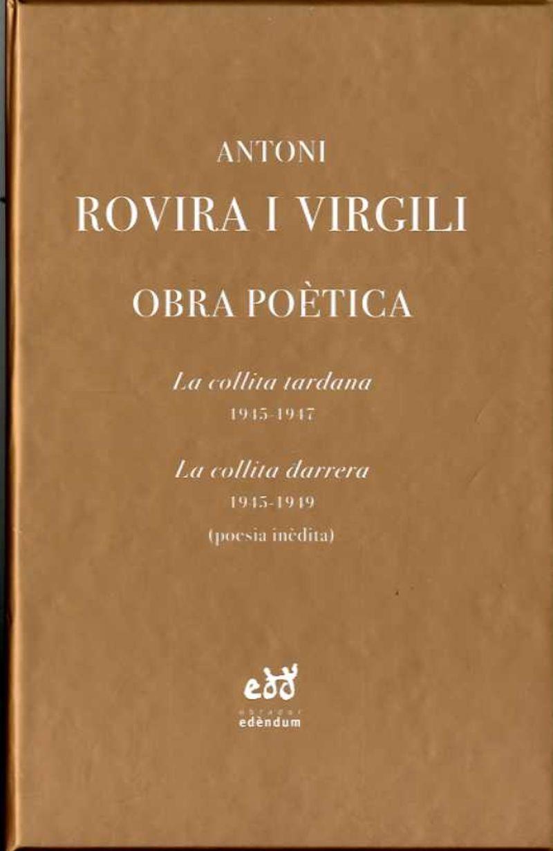 OBRA POETICA (ANTONI ROVIRA I VERGILI) (2 VOLS. )