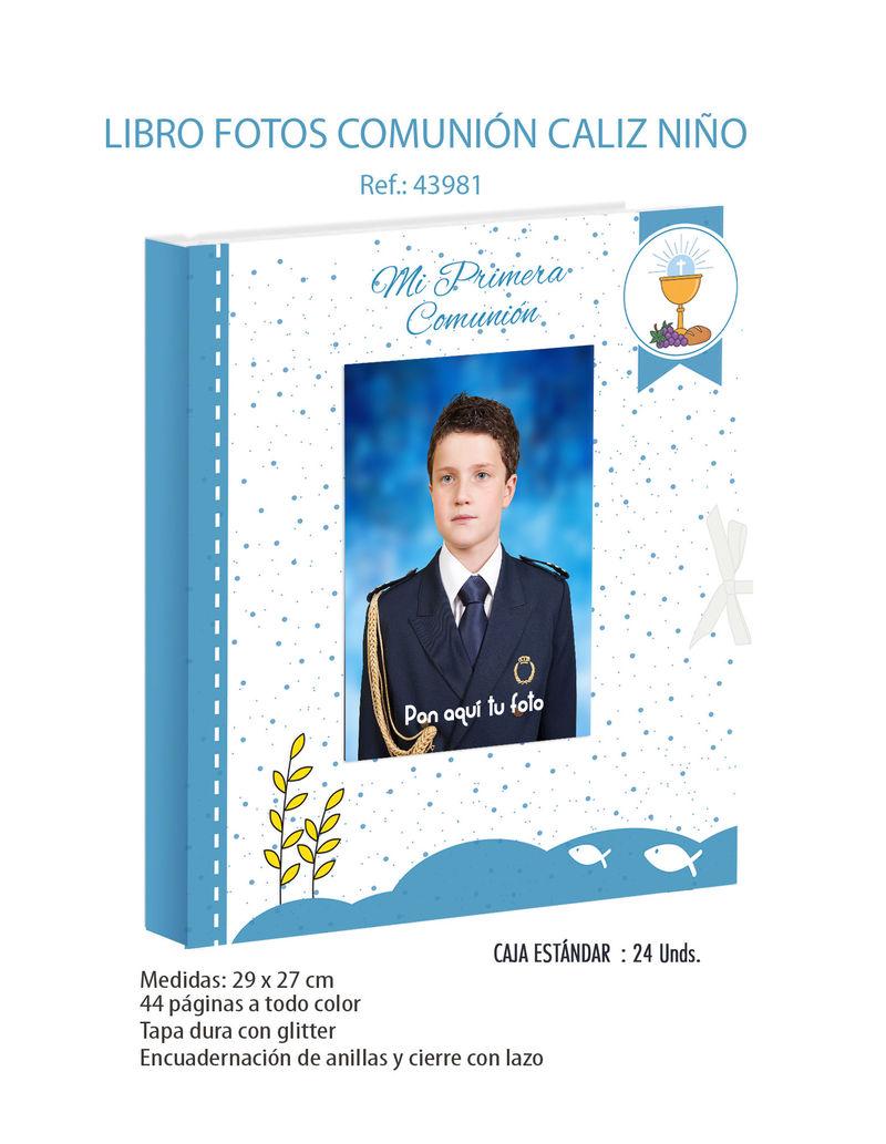 LIBRO FOTOS COMUNION CALIZ NIÑO