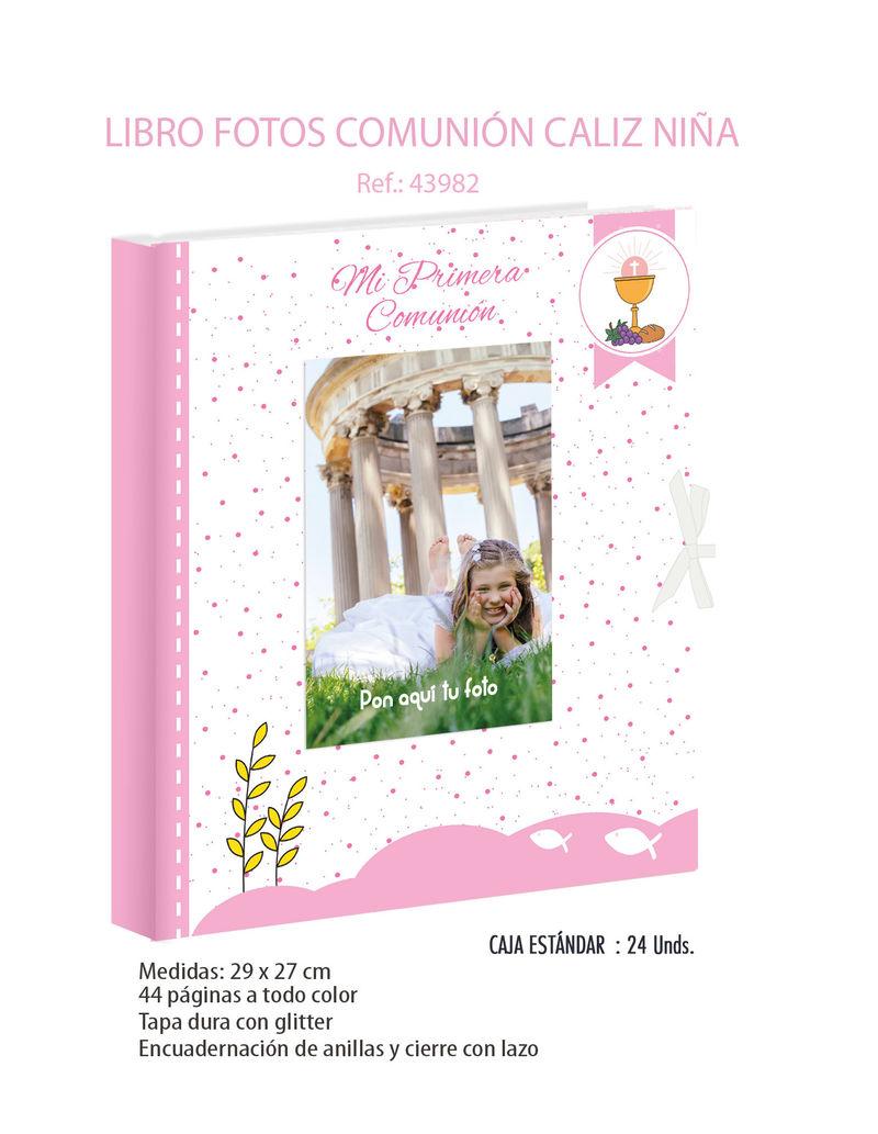 LIBRO FOTOS COMUNION CALIZ NIÑA