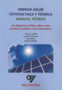 ENERGIA SOLAR FOTOVOLTAICA Y TERMICA - MANUAL TECNICO