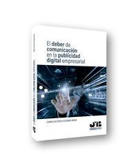 DEBER DE COMUNICACION EN LA PUBLICIDAD DIGITAL EMPRESARIAL, EL