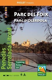 MAPA PARC DEL FOIX - PARC D'OLERDOLA 1: 20000