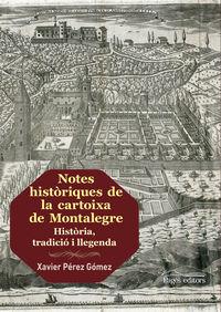 NOTES HISTORIQUES DE LA CARTOIXA DE MONTALEGRE