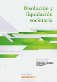 Disolucion Y Liquidacion Societaria (duo) - Thomson Reuters Aranzadi