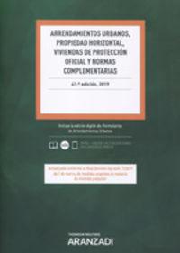 (41 Ed) Arrendamientos Urbanos, Propiedad Horizontal, Viviendas De Proteccion Oficial Y Normas Complementarias (duo) - Aa. Vv.