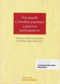 Vox Populi - Consultas Populares Y Procesos Participativos (duo) - Jose Maria Perez Monguio / Severiano Fernandez Ramos