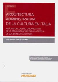 ARQUITECTURA ADMINISTRATIVA DE LA CULTURA EN ITALIA (DUO)