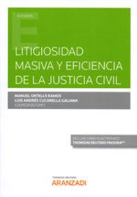 LITIGIOSIDAD MASIVA Y EFICIENCIA DE LA JUSTICIA CIVIL (DUO)