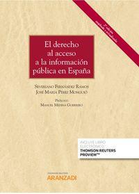 (2 ED) DERECHO AL ACCESO A LA INFORMACION PUBLICA EN ESPAÑA, EL