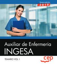 TEMARIO 1 - AUXILIAR DE ENFERMERIA - INGESA