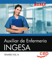 TEMARIO 3 - AUXILIAR DE ENFERMERIA - INGESA