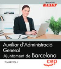 TEMARI I - AUXILIAR D'ADMINISTRACIO GENERAL - AJUNTAMENT DE BARCELONA