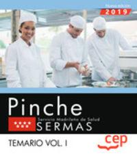 TEMARIO I - PINCHE - SERVICIO MADRILEÑO DE SALUD - SERMAS