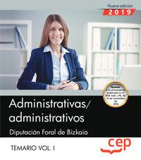 Temario I - Administrativas / Os - Diputacion Foral De Bizkaia - Aa. Vv.