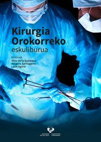 kirurgia orokorreko - eskuliburua - Aitor De La Quintana Basarrate (ed. ) / Leire Agirre Etxabe (ed. )