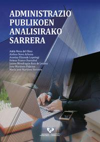 Administrazio Publikoen Analisirako Sarrera - Adela Mesa Del Olmo / Ainhoa Novo Arbona / [ET AL. ]