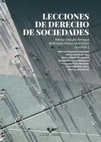 lecciones de derecho de sociedades - Nerea Iraculis Arregui / Aranzazu Perez Moriones