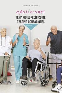 Temario Especifico De Terapia Ocupacional Iii - Julia Gonzalez Garcia
