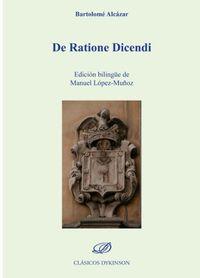 DE RATIONE DICENDI (BARTOLOME ALCAZAR)
