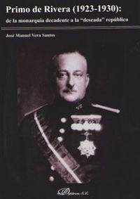 PRIMO DE RIVERA (1923-1930) : DE LA MONARQUIA DECADENTE A LA DESEADA REPUBLICA