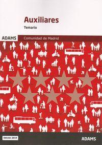 TEMARIO - AUXILIARES ADMINISTRATIVOS - COMUNIDAD DE MADRID