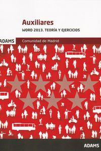 AUXILIARES - WORD Y EXCEL 2013 - TEORIA Y EJERCICIOS