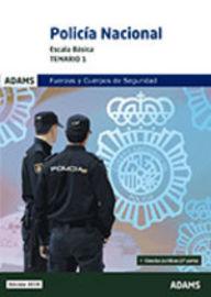 TEMARIO 1 - POLICIA NACIONAL - ESCALA BASICA
