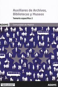 AUXILIARES DE ARCHIVOS - BIBLIOTECAS Y MUSEOS - COMUNIDAD MADRID