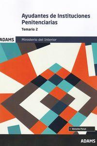 TEMARIO 2 - AYUDANTES DE INSTITUCIONES PENITENCIARIAS