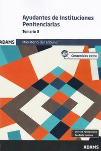TEMARIO 3 - AYUDANTES DE INSTITUCIONES PENITENCIARIAS