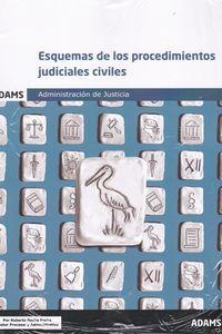 ESQUEMAS DE LOS PROCEDIMIENTOS JUDICIALES CIVILES - ADMINISTRACION DE JUSTICIA