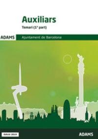 TEMARI - AUXILIARS - AJUNTAMENT DE BARCELONA