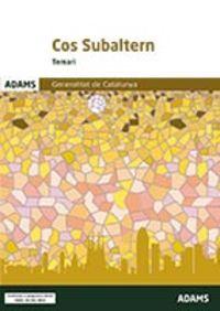 TEMARI - COS SUBALTERN - GENERALITAT DE CATALUNYA