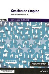 GESTION DE EMPLEO - TEMARIO ESPECIFICO 3 COMUNIDAD DE MADRID