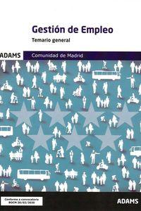 GESTION DE EMPLEO - TEMARIO GENERAL COMUNIDAD DE MADRID