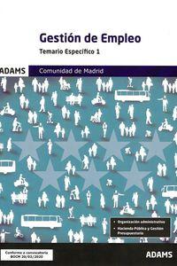 GESTION DE EMPLEO - TEMARIO ESPECIFICO 1 COMUNIDAD DE MADRID