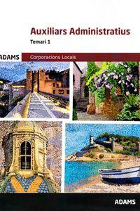 TEMARI 1 - AUXILIARS ADMINISTRATIUS - CORPORACIONS LOCAL
