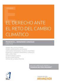 DERECHO ANTE EL RETO DEL CAMBIO CLIMATICO, EL (DUO)